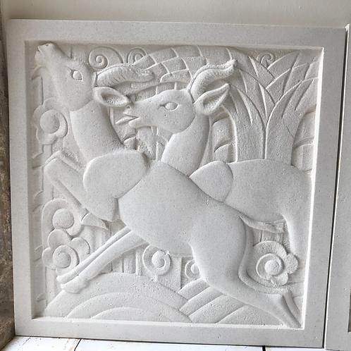 Art Deco Portland Sculpted Wall Plaque - LH
