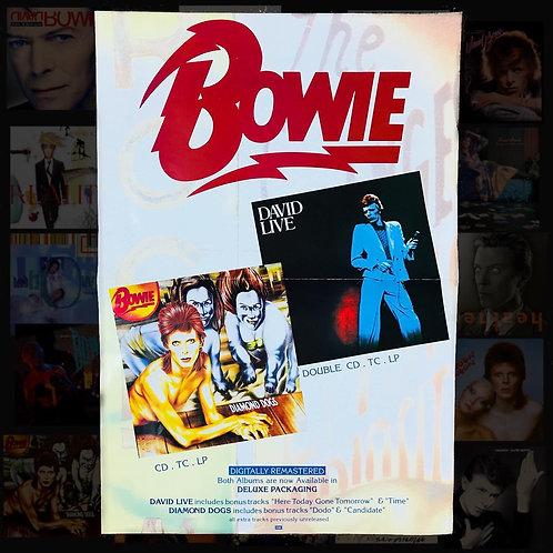 Vintage David Bowie posters x 2