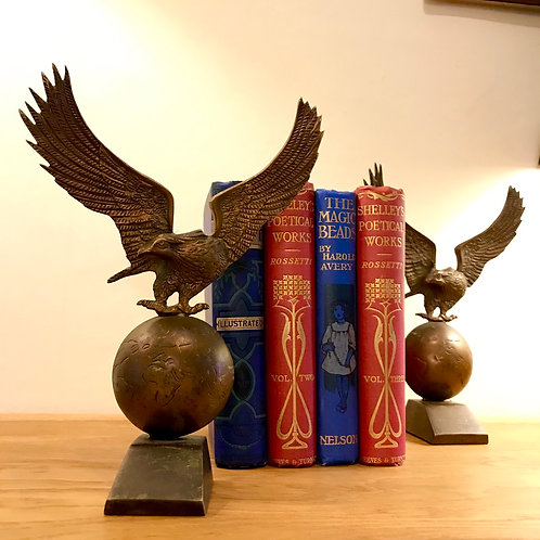 Mid 20th Century Decorative Bronze Eagles
