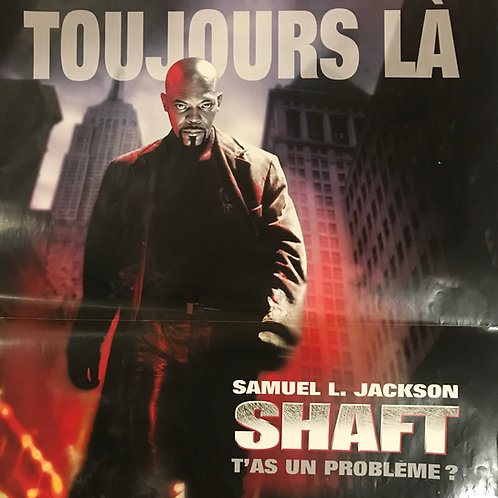 SHAFT Original French Release Movie Poster One Sheet - SAMUEL L. JACKSON.