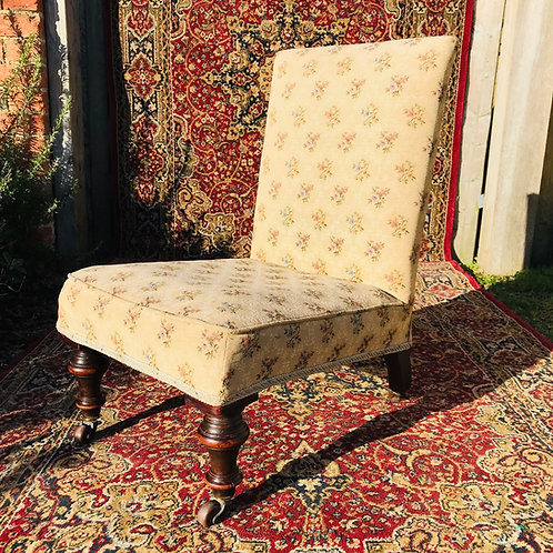 Edwardian upholstered nursing chair