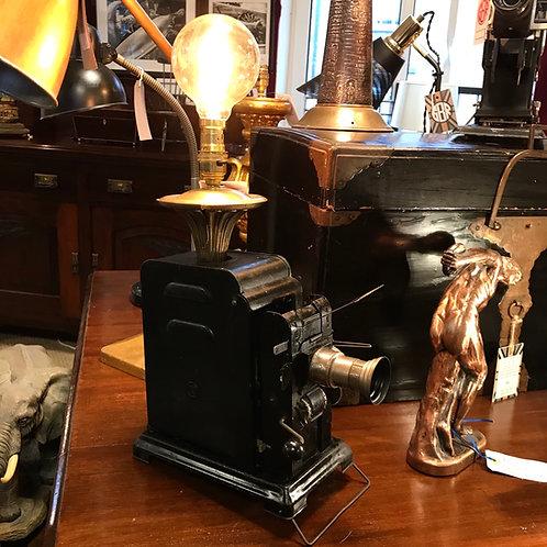 Antique crank handle projector feature lamp