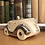 Thumbnail: Sadler Art Deco Racing Car Teapot in Ivory glaze with platinum lustre accents.