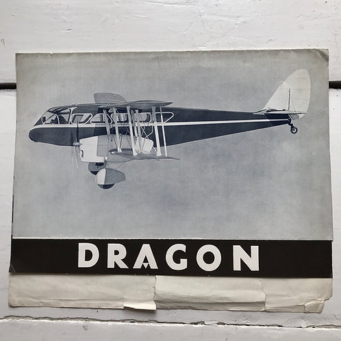 1934 Sales Particulars for the Dragon by De Havilland