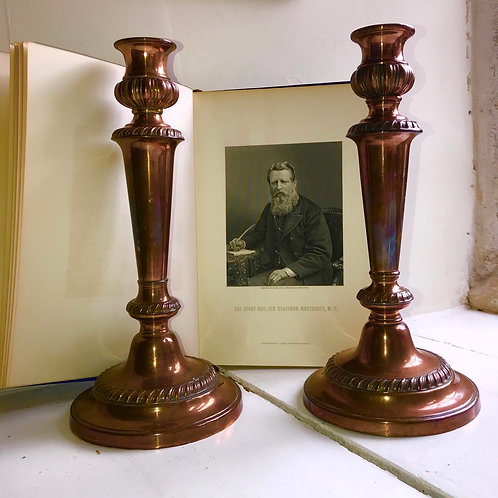 Early 20th Century Copper Candle sticks