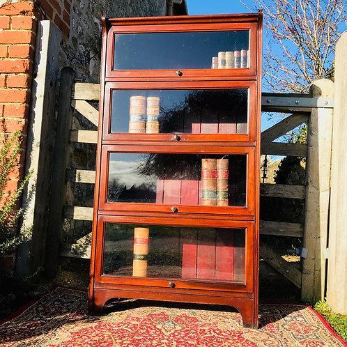 Antique Globe Wernicke style Glazed Mahogany Solicitors Bookcase