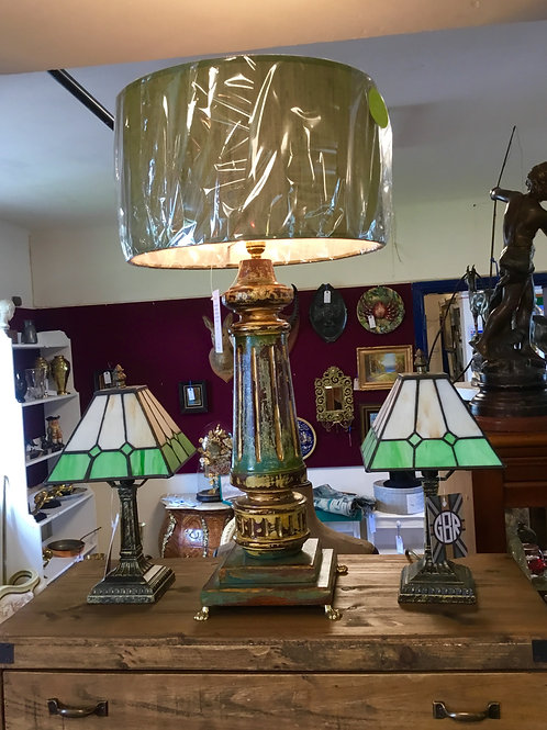 Upcycled Georgian Table Lamp