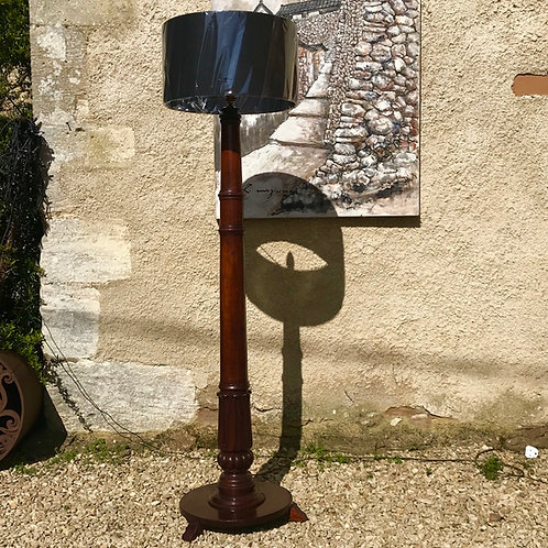 Grand Victorian mahogany torchiere standard lamp