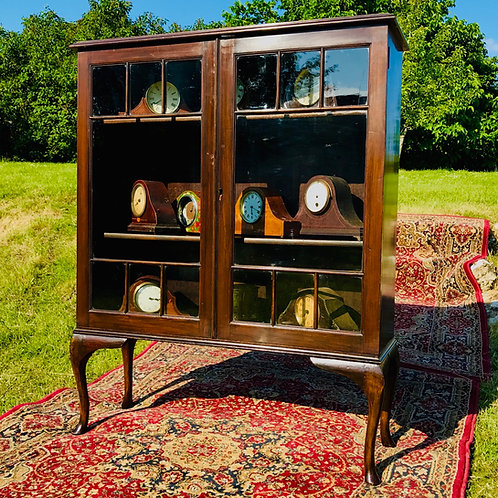Edwardian Mahogany Stained Display Cabinet