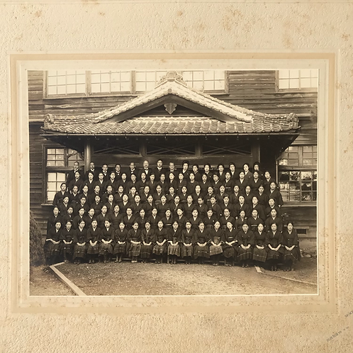 Vintage Japanese Girls School Annual School Group Photograph