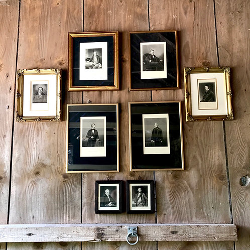 '8 Influencial Men' A collection of framed genuine antique prints