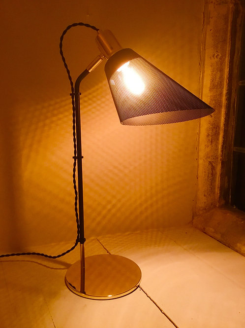 Italian Designer Lamp with perforated shade