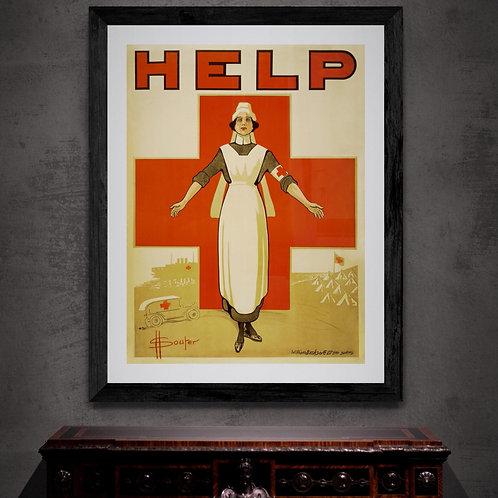 WW1 Help Red Cross Framed Print