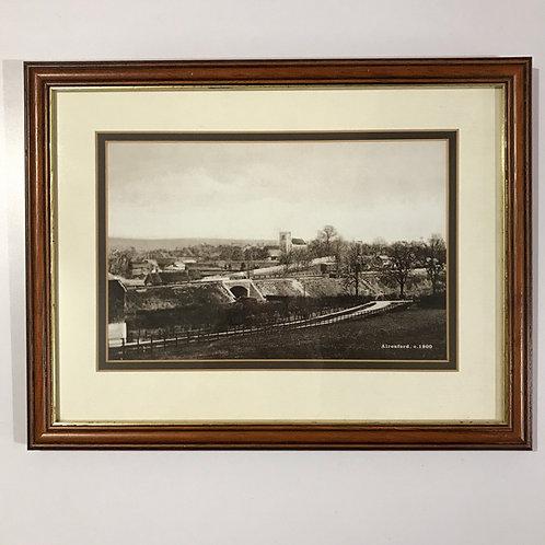 Framed sepia photographic print of Alresford Circa 1900