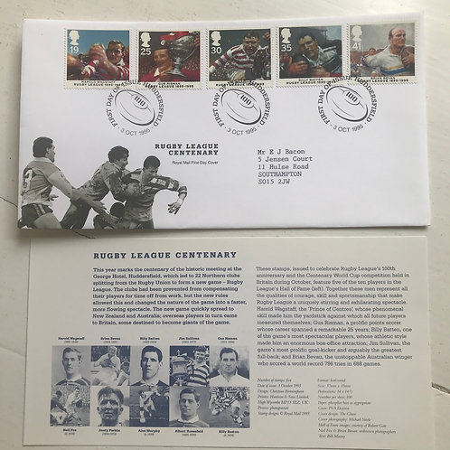 Rugby League Centenary Fist Day Cover 1995