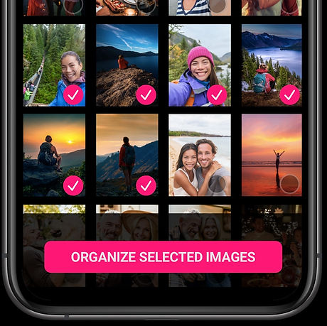 How the Backstory App lets you organize photos in bulk. You can select multiple photos to organize.
