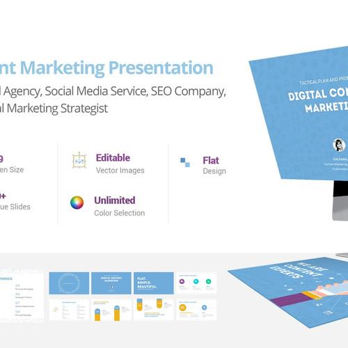 Science edge professional powerpoint template corporate content marketing presentation toneelgroepblik Choice Image
