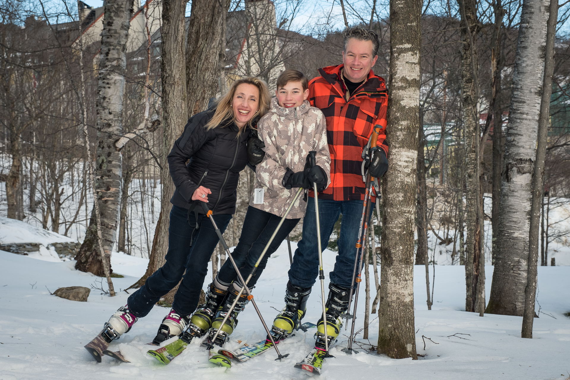 Ski Mont-Tremblant familly portrait