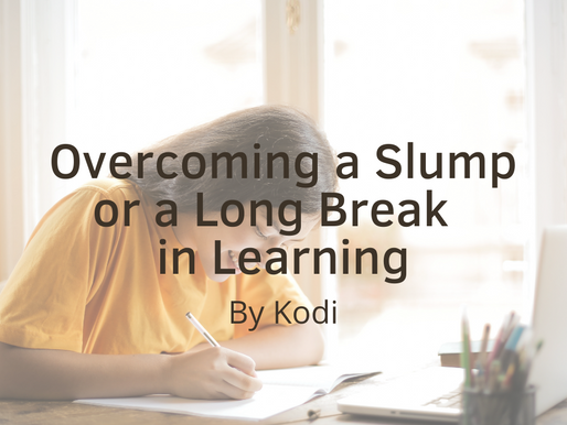 Getting Back Into the Game: Overcoming a Slump or Long Break in Learning