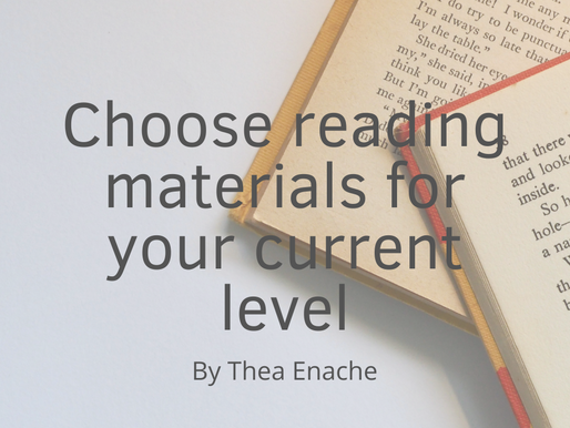 How to choose reading materials based on your current level