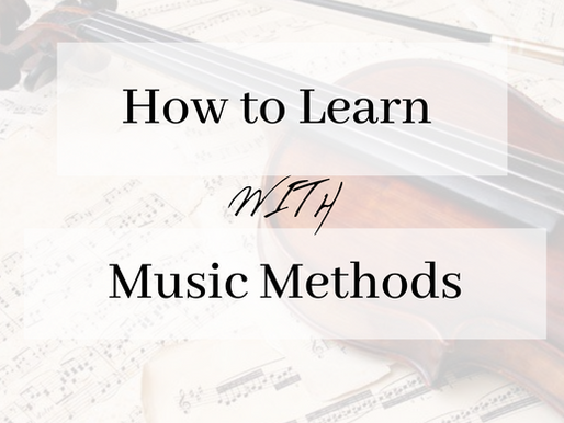 How to Learn with Music Methods