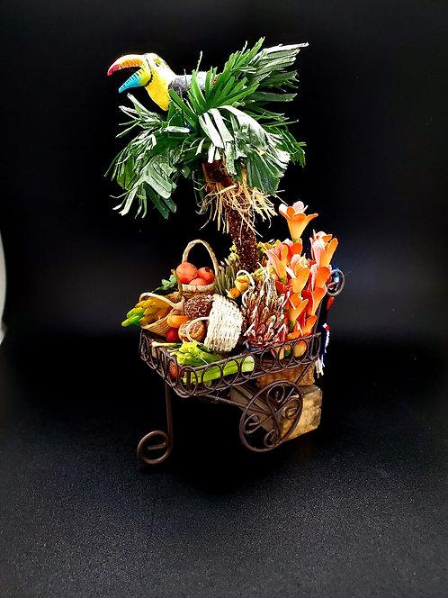 Tropical Cart with Toucan