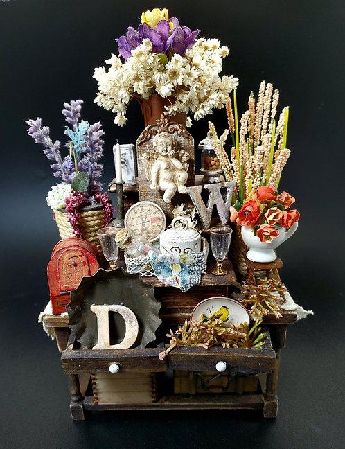 Romantic Floral Shop Table
