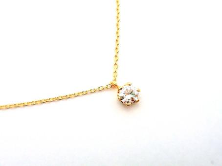 K18イエローゴールド・ダイヤモンドペンダントネックレス・ジュエリーリフォーム