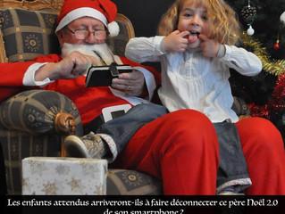 Venez petits et grands poser avec le Père Noel du futur !! C'est demain après midi chez ad lib e