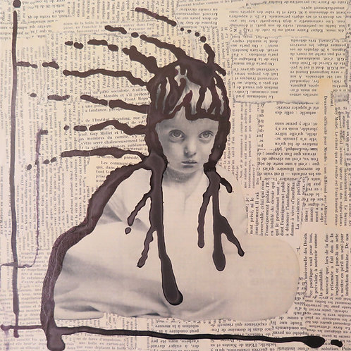 Collage et encre by REMY G