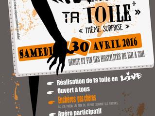 RAMÈNE TA TOILE ! évènement  pictural en LIVE !! Le Samedi 30 Avril de 15h à 20 heures