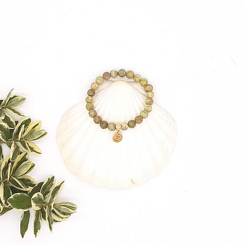 Bracelet pierre de naissance aout lithotherapie By Lune de cristal