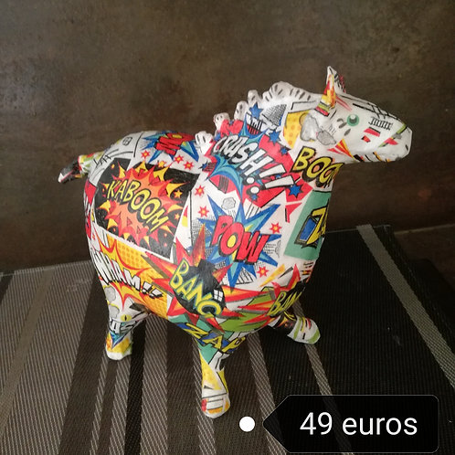 ANIMAL en papier mâché  By Caroline JUPILLE