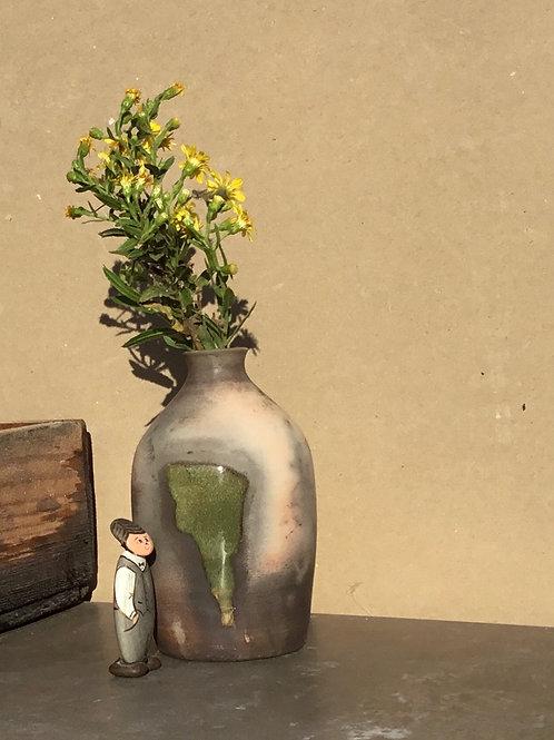 Vase Raku Saggar by Remo Ceramique