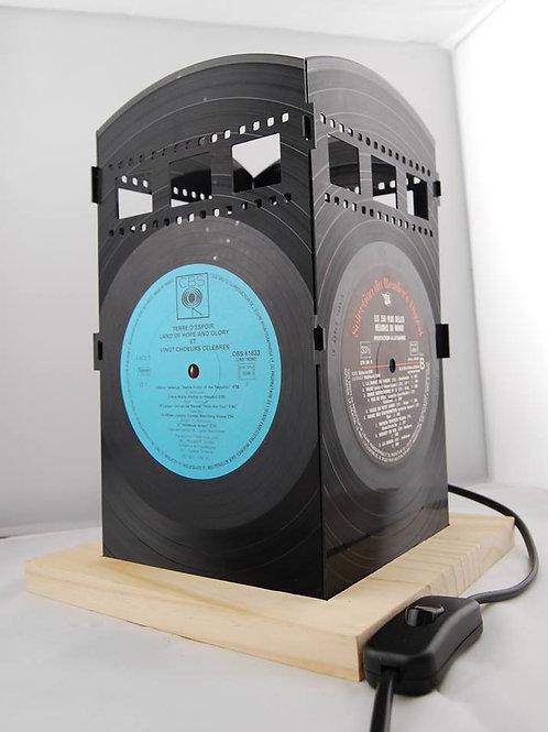 Lampe en disque vinyle recyclé By Funky vinyl