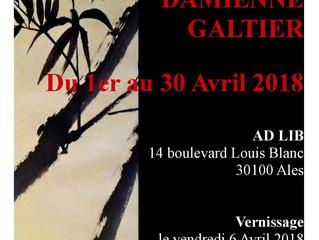En avril  Damienne Galtier expose son travail autour de l'encre Vernissage le 6 à partir de 19h