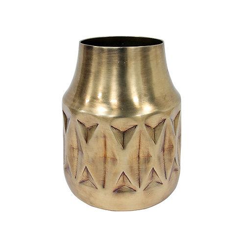 Vase géo en laiton