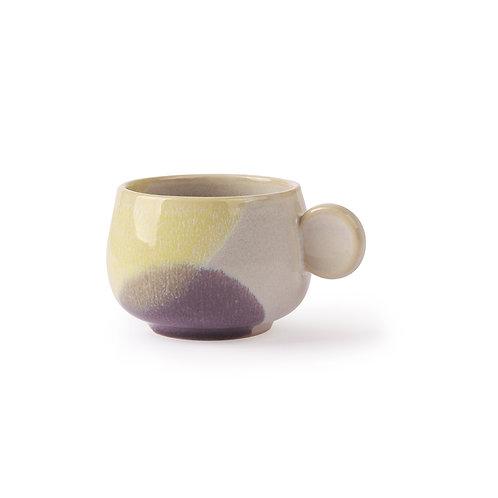 2 Tasses à café  yellow/lilas  ACE6788