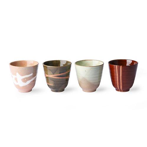 Tasses japonaises yunomi (lot de 4)