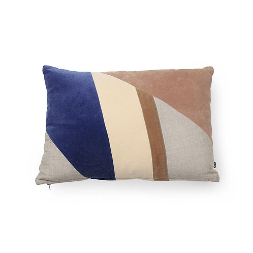 Coussin multicolore rectangulaire