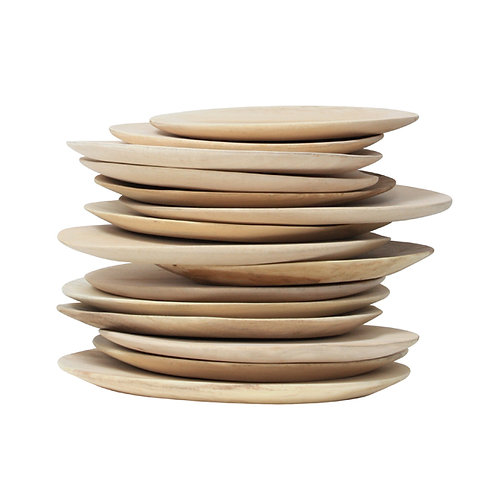 Assiettes en bois de mangue réf. HAP6123