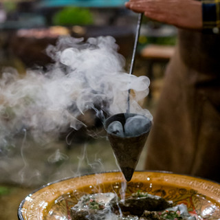 kadai flame cooked oysters and smoke
