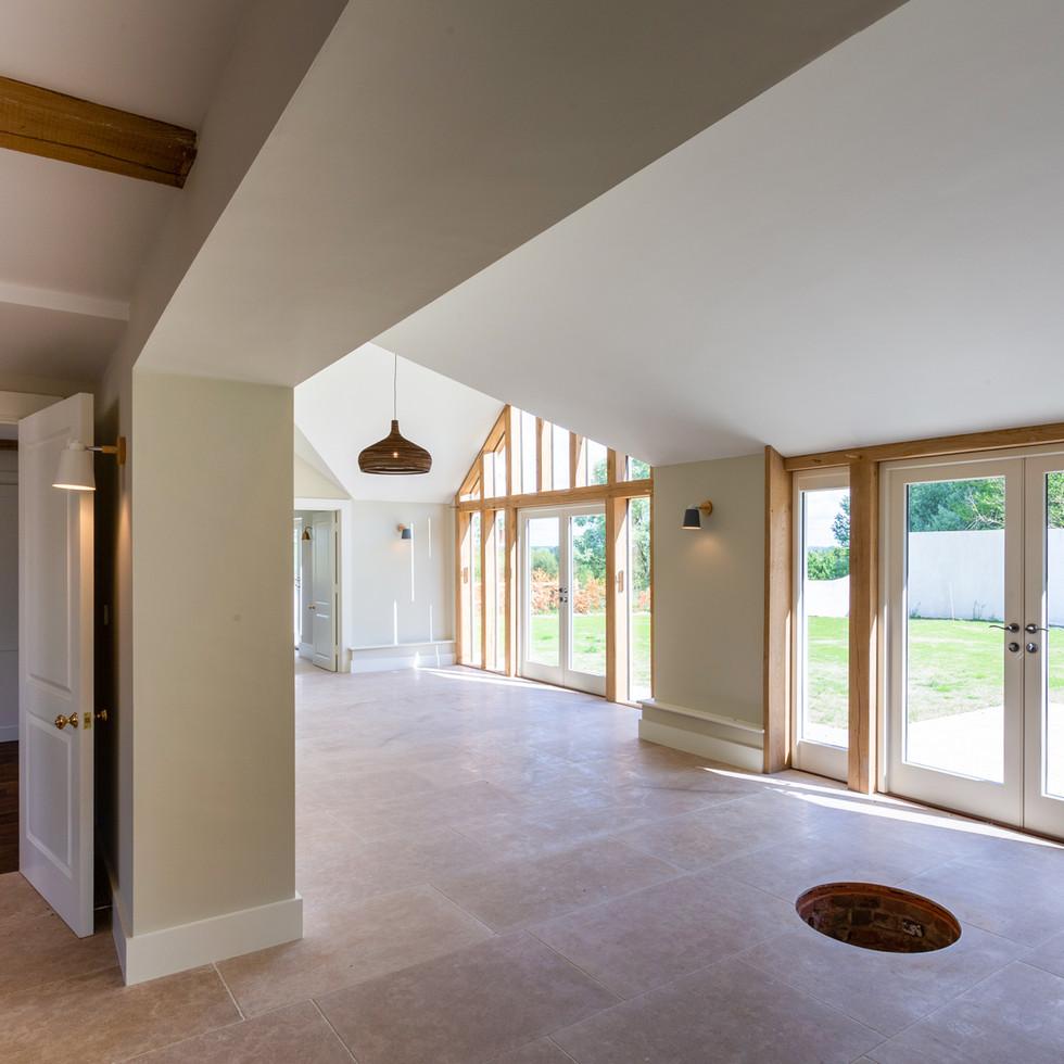 openplan converted farmhouse build