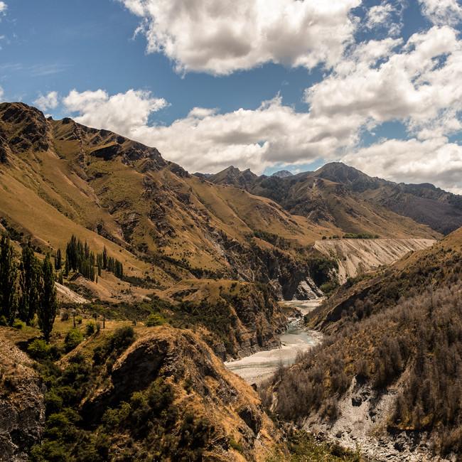 Wanderlust river flowing through New Zealand