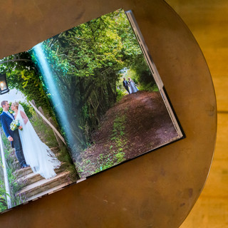 inside view of a custom bespoke wedding photo album