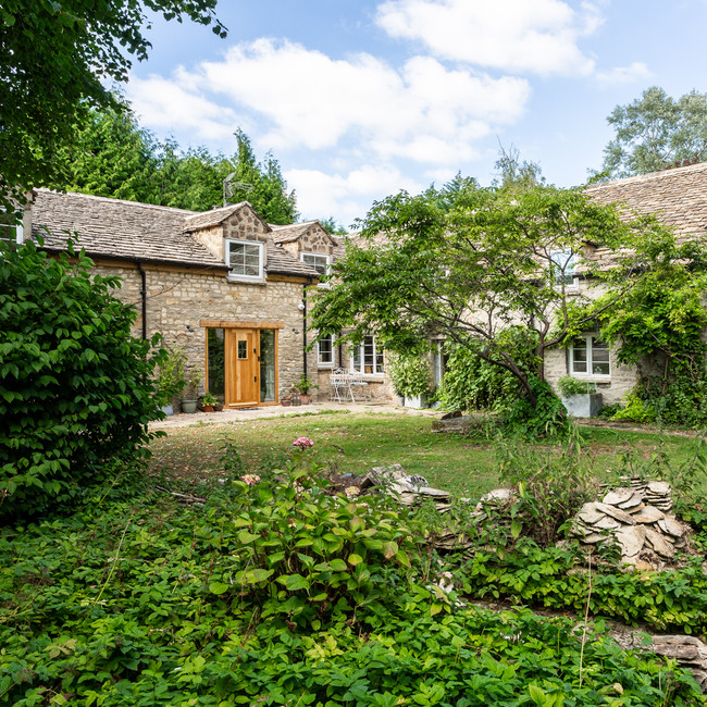 traditional Cotswold stone house modernised