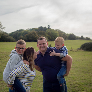 family portrait in Churchdown, Gloucestershire
