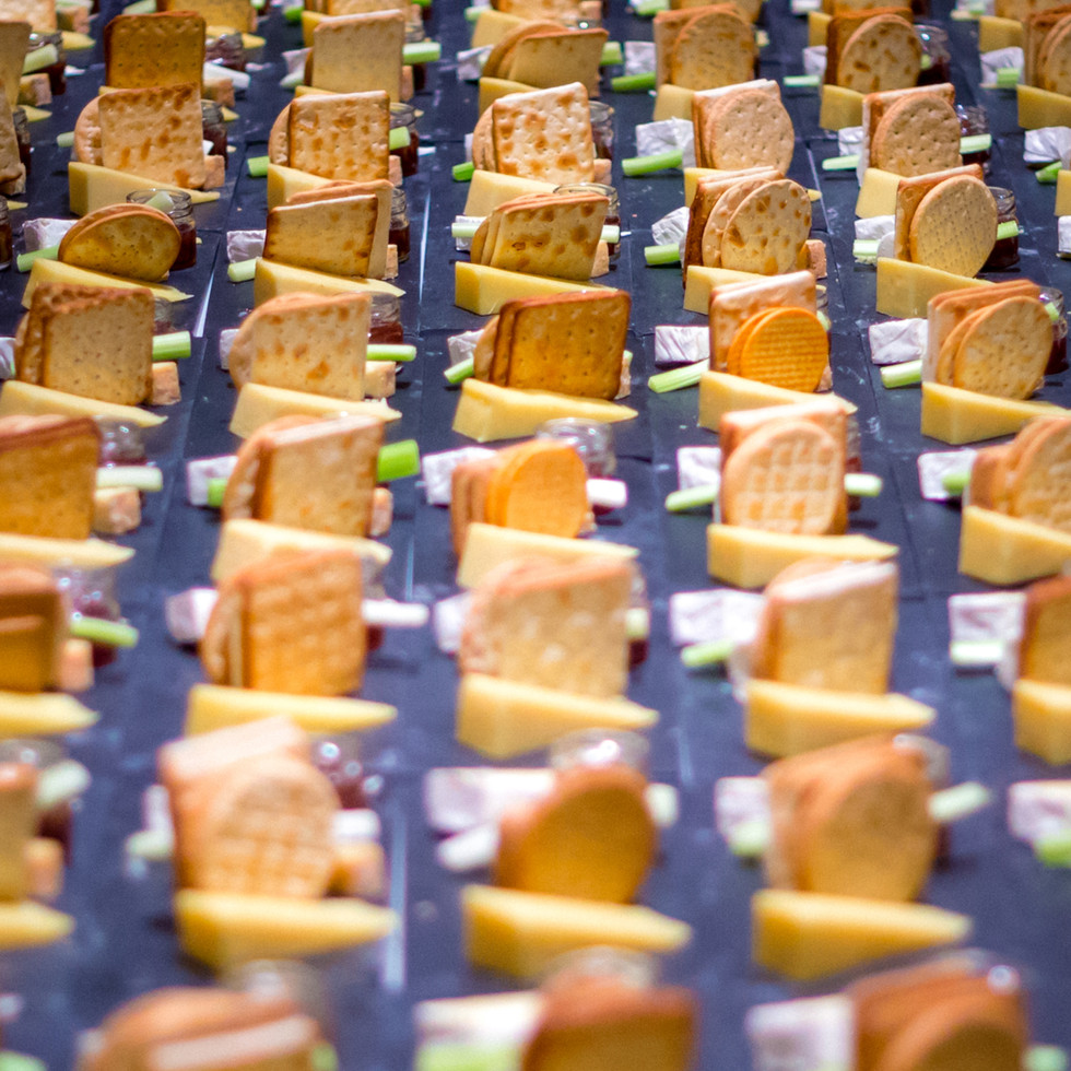 cheese and crackers events catering