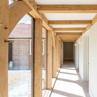 light and airy hallway timber cladding