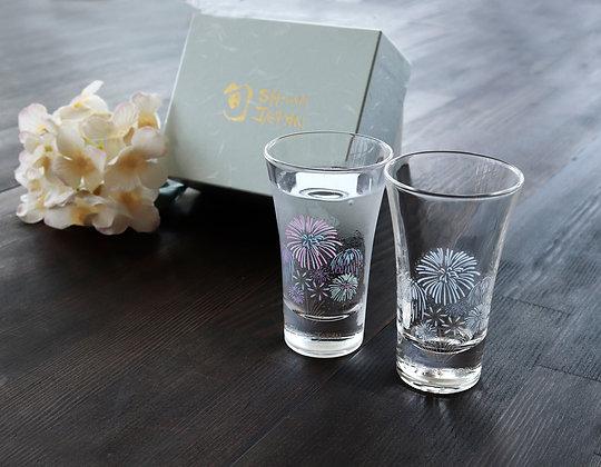 丸モ高木陶器 - 天開 ‧ 冷感花火(禮盒兩杯入)